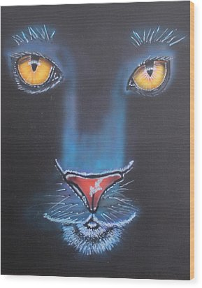Night Eyes Wood Print