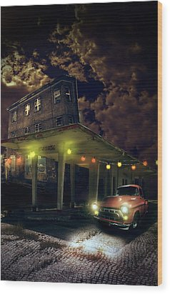 Night Fill Wood Print by Nathan Wright