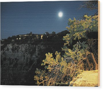 Wood Print featuring the photograph Night Glow by Sylvia Thornton