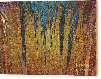 Wood Print featuring the digital art Night Grass by Darla Wood