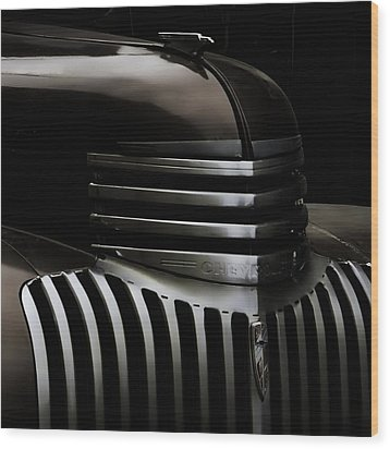 Night Grille Wood Print by Ken Smith