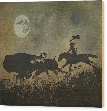 Wood Print featuring the photograph Night Hunter by Roy  McPeak
