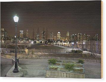 Night In New York City 4 Wood Print