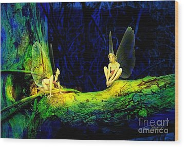 Night In The Cove Wood Print by Tom Straub