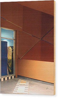 Night Interior With Window Wood Print by Ben and Raisa Gertsberg