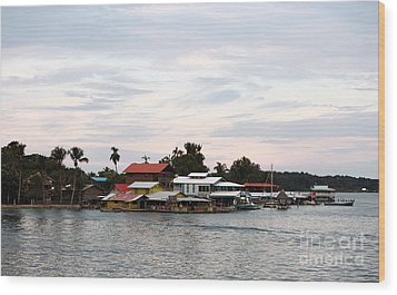 Night Is Coming At Bocas Wood Print by John Rizzuto