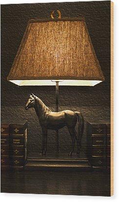 Night Lamp Wood Print by Radoslav Nedelchev