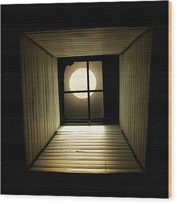 Night Light Wood Print by Amy Tyler