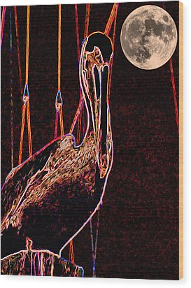Wood Print featuring the photograph Night Light by Robert McCubbin