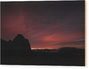 Night Lights Wood Print by Anthony Citro