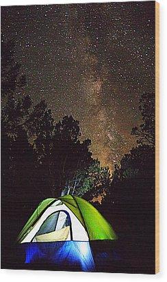 Night Lights Wood Print by Matt Helm