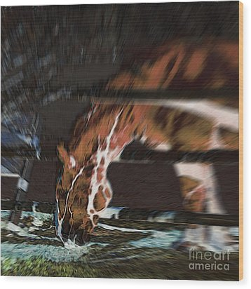 Wood Print featuring the digital art Night-mare by Stuart Turnbull