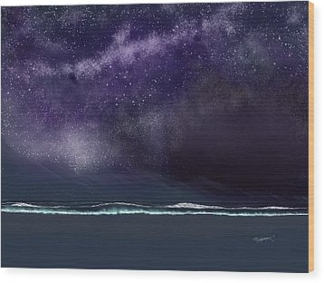 Wood Print featuring the digital art Night Of A Thousand Stars by Anthony Fishburne