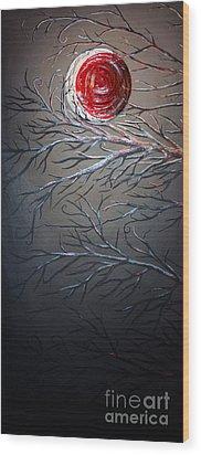 Night Of The Eclipse Panel 1 Wood Print by Teshia Art