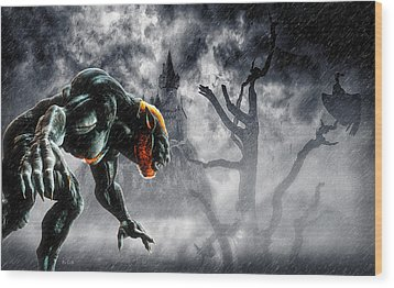 Night Of The Lycan Wood Print by Bob Orsillo