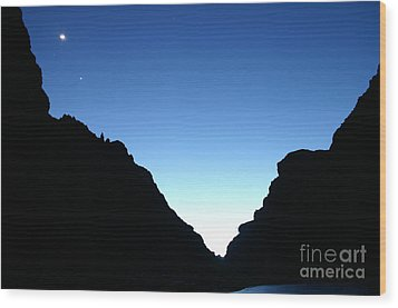 Night On The Grand Wood Print by Crystal Magee