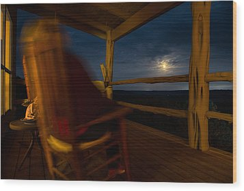 Wood Print featuring the photograph Night On The Porch by Darryl Dalton