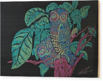 Night Owls Wood Print by Lorinda Fore