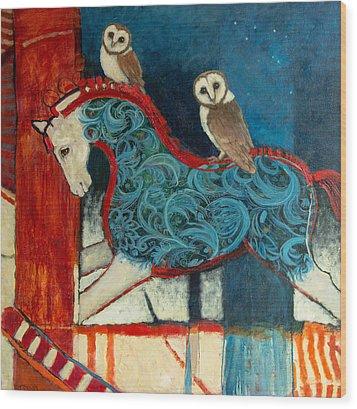 Night Riders Wood Print by Jennifer Croom