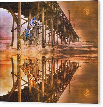 Night Run IIi Patriotic  Wood Print by Betsy Knapp