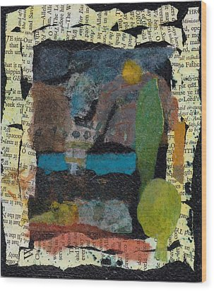 Wood Print featuring the mixed media Night Scene by Catherine Redmayne