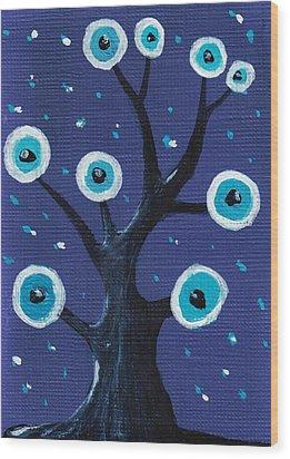 Night Sentry Wood Print by Anastasiya Malakhova