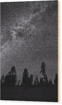 Night Serenity Wood Print by Nancy Strahinic