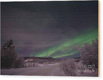 Night Skies Wood Print by Priska Wettstein