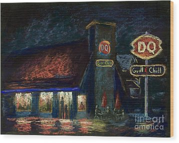 Night Spot Wood Print by Bruce Schrader