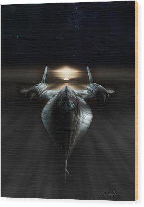 Night Stalker Wood Print by Peter Chilelli