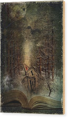 Night Story Wood Print