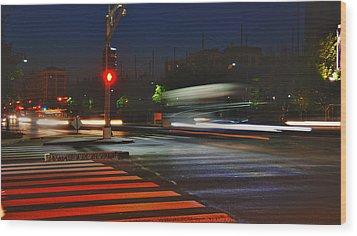 Night Streaks Wood Print by Joann Vitali