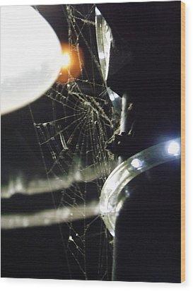 Night Web Wood Print