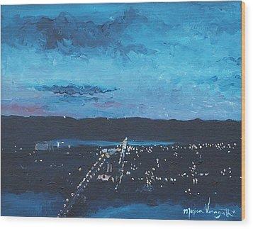 Nightfall At Garvin Wood Print by Monica Veraguth