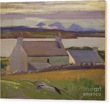 Nightfall  Iona Wood Print by Francis Campbell Boileau Cadell