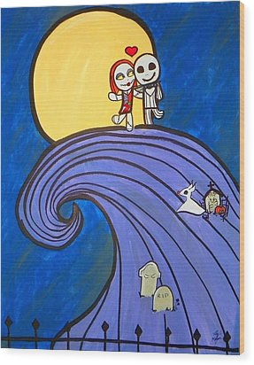 Nightmare Before Christmas Hill Cute Wood Print