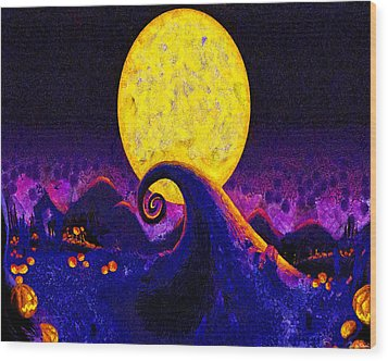 Nightmare Before Christmas Wood Print