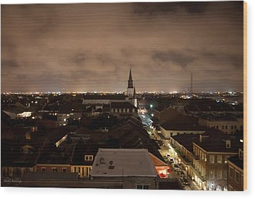 Nightscape Wood Print by Shelly Stallings