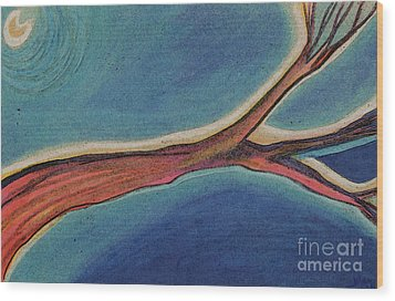 Nighttime Branch 1 Wood Print by First Star Art