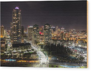 Wood Print featuring the photograph Nighttime by Heidi Smith