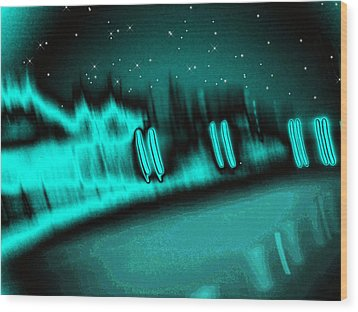 Nightwalkers Wood Print by Wendy J St Christopher