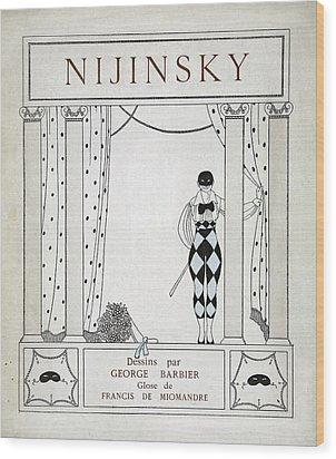 Nijinsky Title Page Wood Print by Georges Barbier