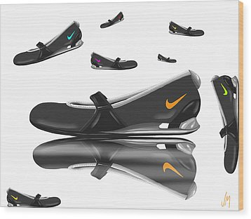 Nike Wood Print by Veronica Minozzi