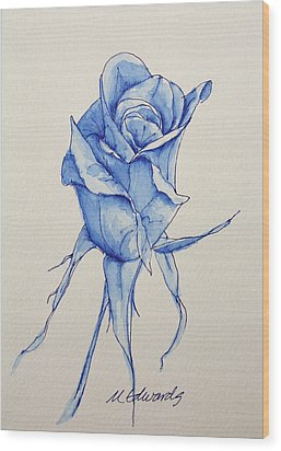 Niki's Rose Wood Print by Marna Edwards Flavell