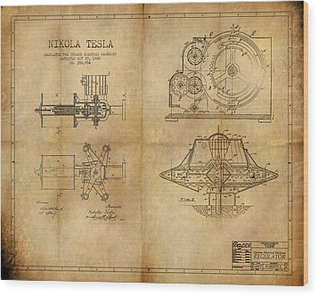 Nikola Telsa's Work Wood Print