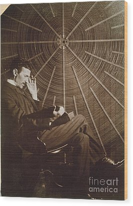 Nikola Tesla Wood Print by Granger