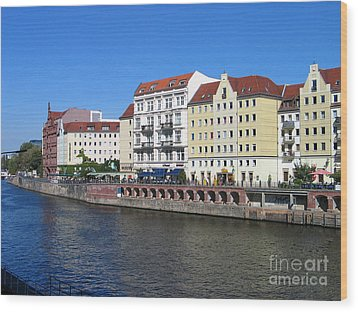 Nikolaiviertel Wood Print by Art Photography