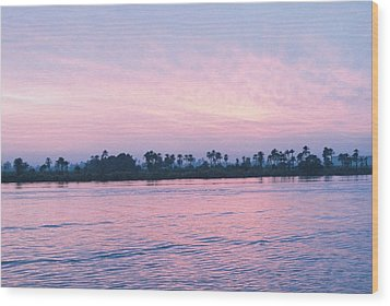 Wood Print featuring the photograph Nile Sunset by Cassandra Buckley