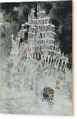 Nine Eleven Wood Print by Jim Bates