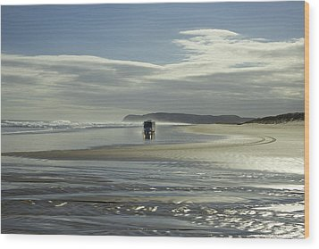 Ninety Mile Beach New Zealand Wood Print by Venetia Featherstone-Witty